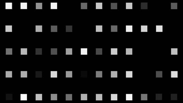 4kグローイングスクエア形状ledライト、ループ可能、光効果、アニメーション、黒色の背景 - 斑点点の映像素材/bロール