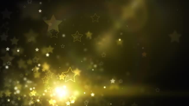 Glowing Stars Background Loop - GoldenShine (Full HD) video