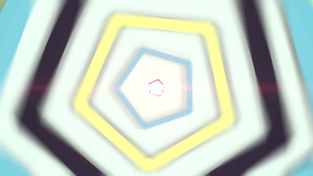 Glowing tunnel with polygonal shape
