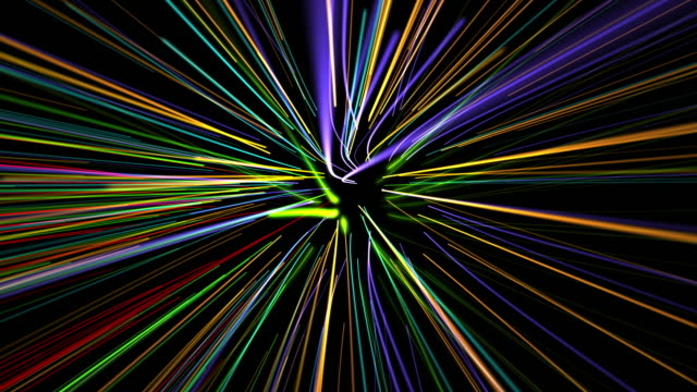 glowing waved lines video