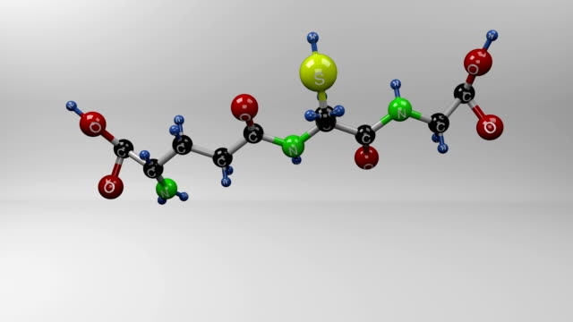 glutathione molecule. - superfoods stock videos and b-roll footage