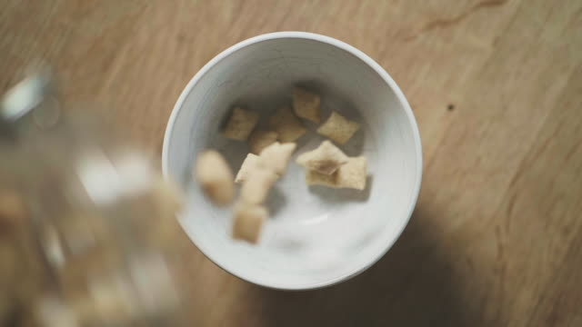 gluten free cereal in a bowl - gluten free stock videos and b-roll footage