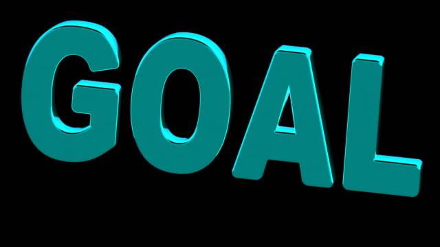 vídeos de stock e filmes b-roll de goal. footage with 4k resolution has alpha channel. - liga desportiva