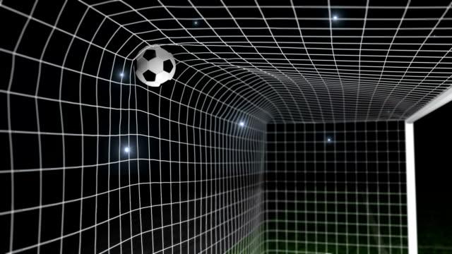 目標フットボール/サッカーボールにネット - サッカークラブ点の映像素材/bロール
