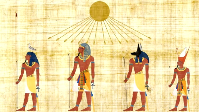 Gods And Pharaohs Under An Egyptian Sun Symbol video