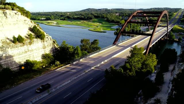 Going down the Canyon of Pennybacker Bridge in Austin , Texas , USA