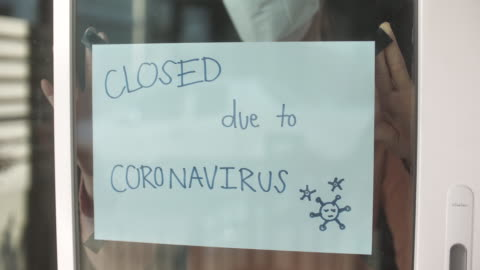 Going Out of Business Sign, Store closing due to the Covid-19 virus Going Out of Business Sign, Store closing due to the Covid-19 virus store stock videos & royalty-free footage