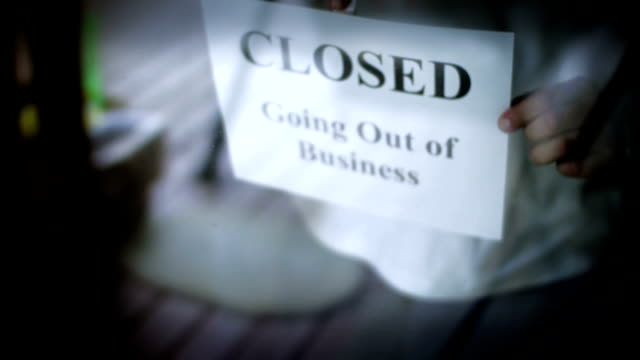 going out of business - bankruptcy stock videos & royalty-free footage