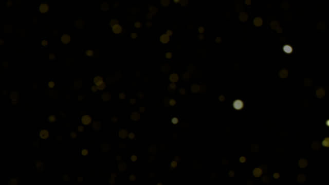 Gold abstract bokeh lights background