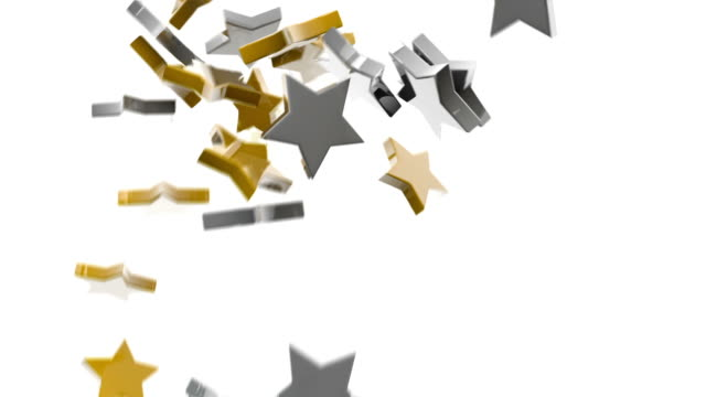 Gold and Silver Stars Background. video