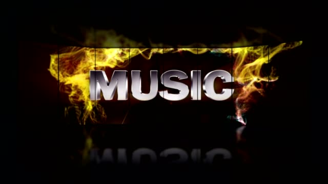 MUSIC Gold Animation Text in Particles Ring, Background, Rendering, Loop video