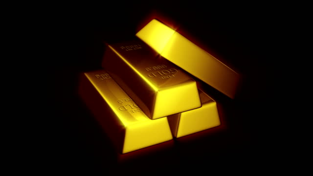 Gold Bars 4K Loop
