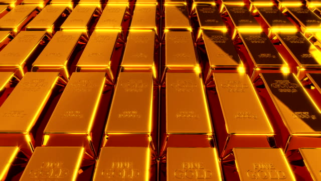 Gold Bars Animation Loop Bank, Gold, Gold Colored, Ingot, 4K Resolutio gold bars stock videos & royalty-free footage