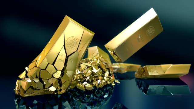 HD: Gold bars crash video