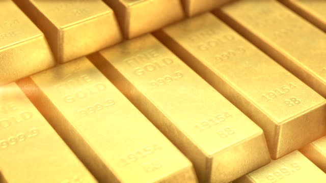 Gold bars Gold bars video background. Loopable. gold bars stock videos & royalty-free footage