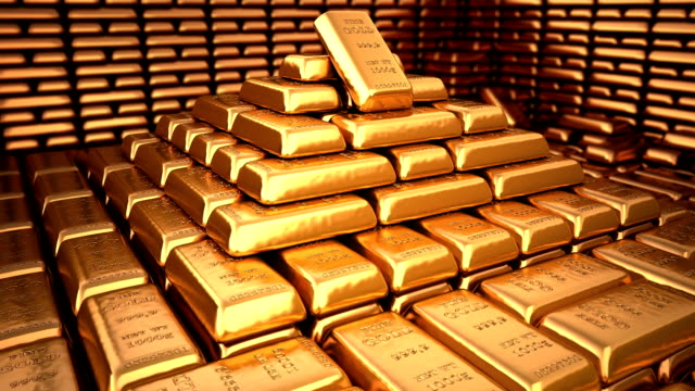 gold bars - safes and vaults stock videos & royalty-free footage