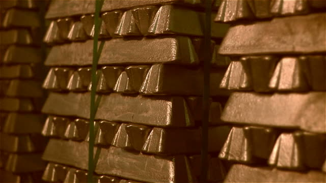 Gold bars A pile of gold bars gold bars stock videos & royalty-free footage