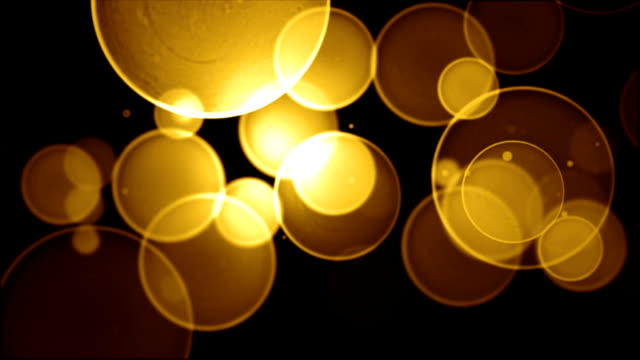 Gold Bokeh Background Video Loop (Full HD) video