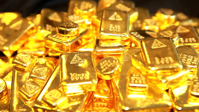 Gold Bullion Australian Gold Bullion worth $1.5 Million gold bars stock videos & royalty-free footage