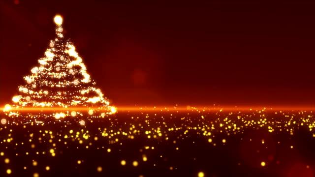 gold weihnachtsbaum - kieferngewächse stock-videos und b-roll-filmmaterial