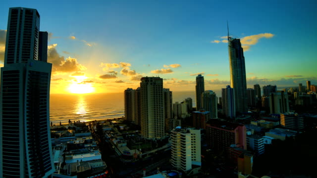 Gold Coast, Queensland, Australia Sunrise time lapse: 4K video