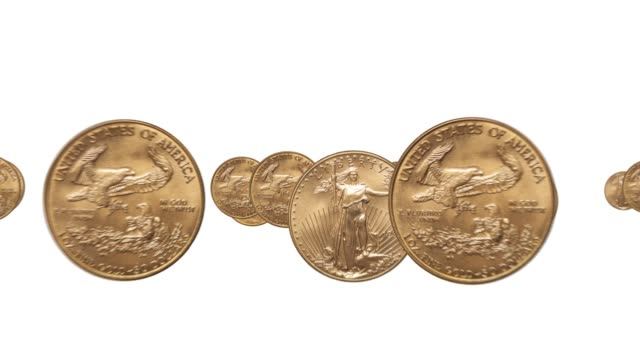 Gold Coins 4K Animation video