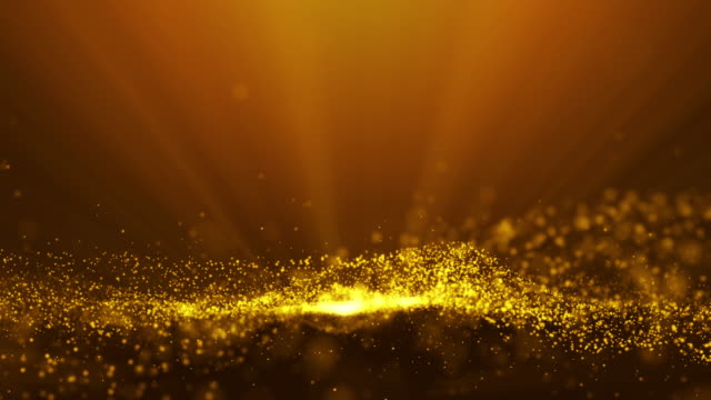 Gold Colour Abstract Moving Particle Background video
