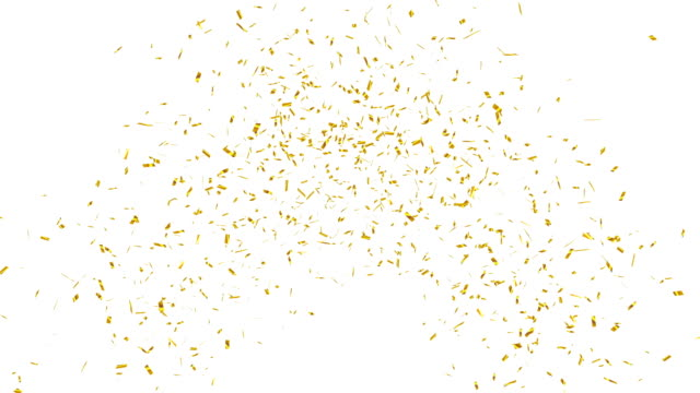 Gold confetti explosion. video