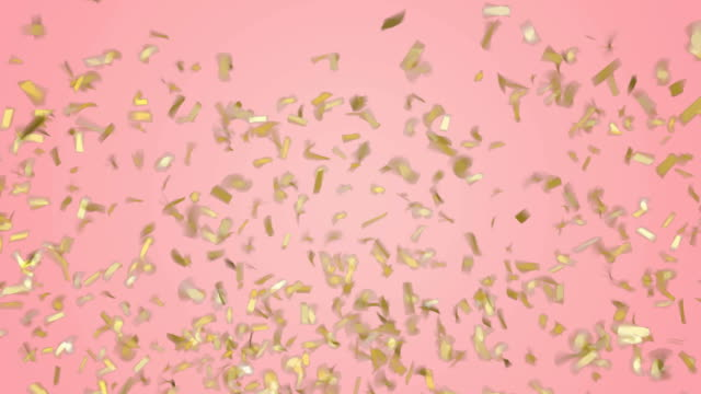 Gold confetti falling down on pastel pink background. Green screen footage. Gold confetti falling down on pastel pink background. Green screen footage. pink color stock videos & royalty-free footage