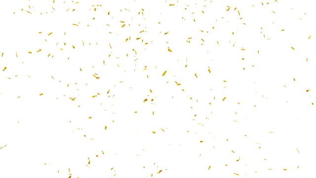 gold konfetti fallen. - confetti stock-videos und b-roll-filmmaterial