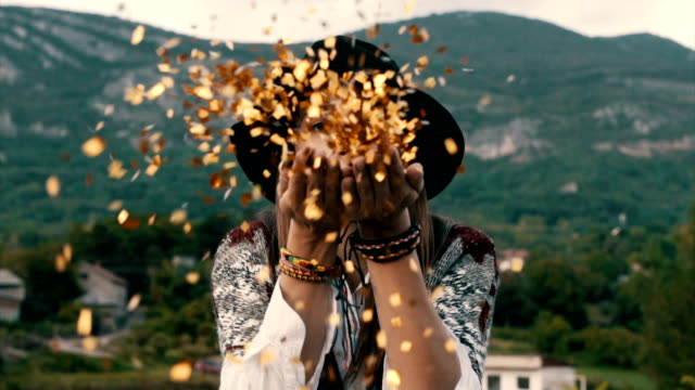 Gold confetti video