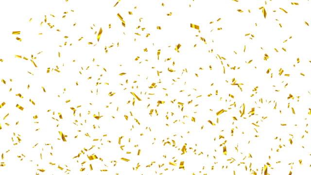 gold konfetti - luftschlangen und konfetti stock-videos und b-roll-filmmaterial