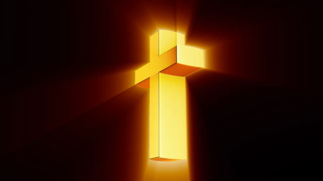 Gold Cross with Glow Rays video