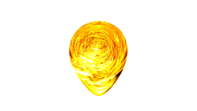 gold. drop of molten gold in white background,  for projects gold, oil, honey, beer, juice, petrol or other variants. - collagene video stock e b–roll