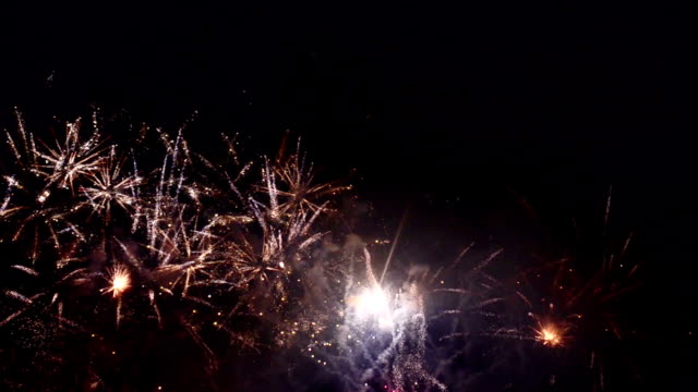 Gold Firework Blooming video