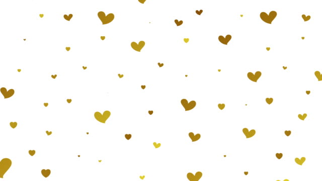 Gold glitter video animation with hearts video