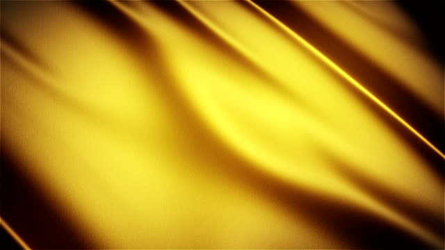gold glossy cloth satin realistic seamless loop waving animation - seta video stock e b–roll