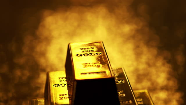 4K: Gold ingots 4K: Gold ingots. gold bars stock videos & royalty-free footage