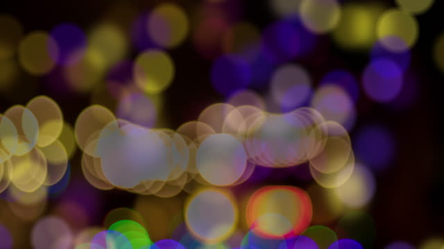Gold lights bokeh Particles Effect and Sparkling magical dust particles. Magic concept. Abstract background with bokeh effect video