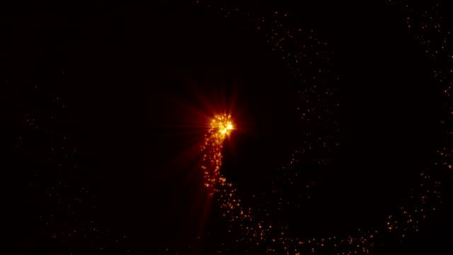 złoty luksusowy błyszczący brokat gwiazda pył trail.4k animacji - paranormalny filmów i materiałów b-roll