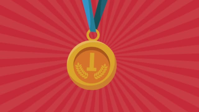 gold medal first place animation video