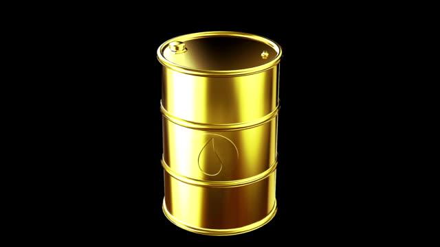 vídeos de stock e filmes b-roll de ouro de ícone de cilindro com gota - barrica