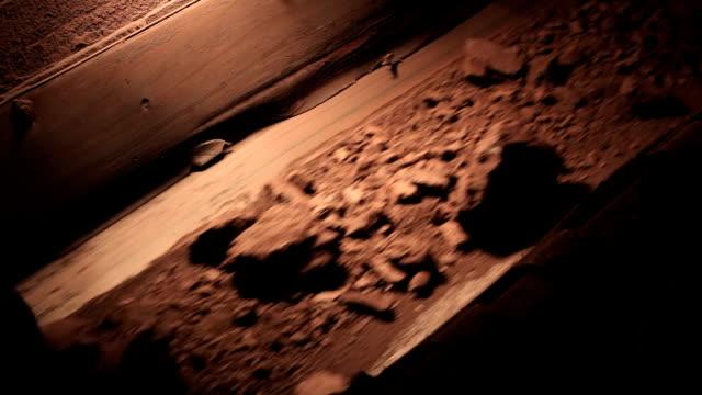 Gold ore on conveyor belt video
