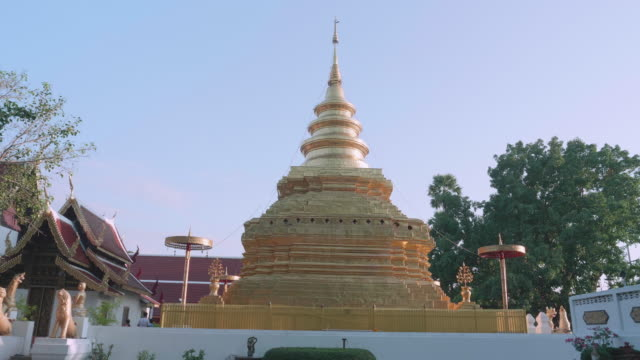 Gold pagoda in Wat Phra That Sri Chom Thong,Chiang Mai province,Thailand
