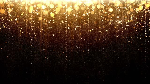 Gold Particle Rain - Loop