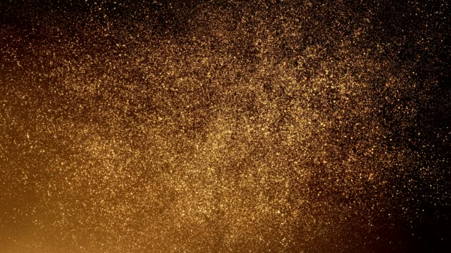 Gold Particles Flying Upwards - Loop