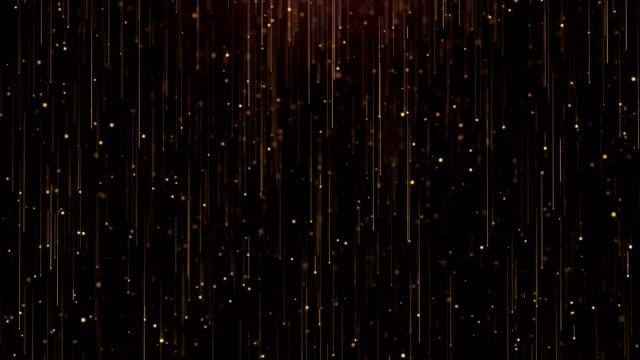 vídeos de stock, filmes e b-roll de fundo de glitter com partículas de ouro. loop de animação - eventos de gala