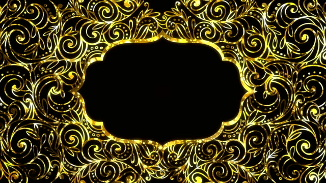 Gold Ramadan kareem frame background looped with space for your text