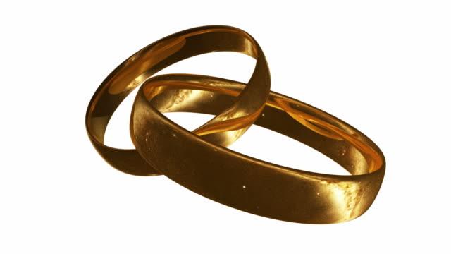 ゴールドリング、夜空-hd1080 反映されています - 指輪点の映像素材/bロール