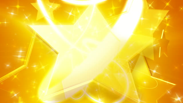Gold Star Background Plate video